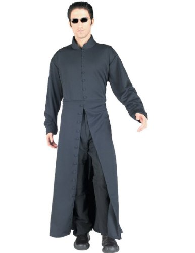Adult Neo Costumes (Matrix Neo Adult's Large Costume Trench Coat + Glasses)
