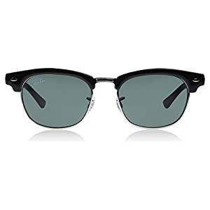 Ray-Ban Unisex-Child Clubmaster Junior Sunglass 0RJ9050S Square Sunglasses, black, 45 mm