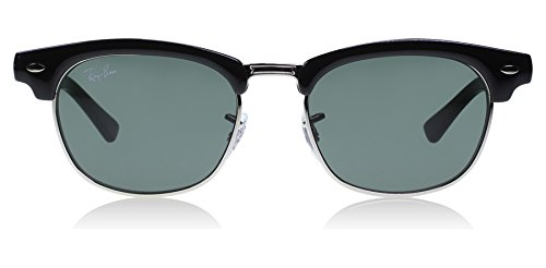 Ray-Ban Unisex-Child Clubmaster Junior Sunglass 0RJ9050S Square Sunglasses, black, 45 - Ray Bans Girls On