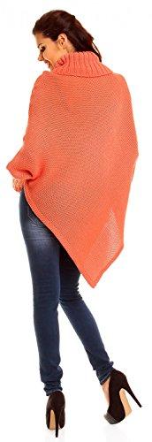Zeta Ville Premamá - Capa Jersey estilo poncho de ochos - para mujer 312Ac Coral