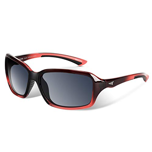 KastKing Alanta Polarized Sport Sunglasses,Gloss Raspberry Fade Frame,Smoke ()