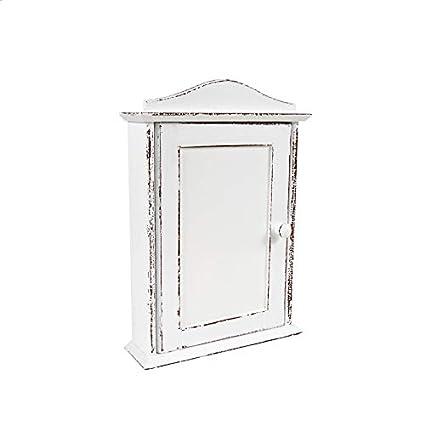 Zeller Schl/Ã/¼ssel Key 13846 Key Cabinet 21.5 x 5.5 x 24.5 cm Beech Wood and Stainless Steel by Zeller