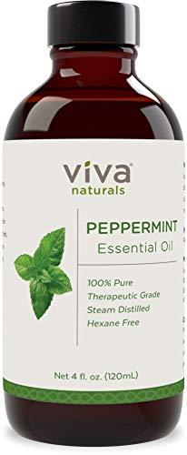 Viva Naturals Peppermint Essential Oil, 4 Ounce