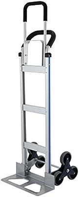 MosaicAL Carrito de escalera de 250 kg, carretilla de mano de aluminio de 60 pulgadas, carretilla de 6 ruedas de carga pesada (200 kg): Amazon.es: Industria, empresas y ciencia