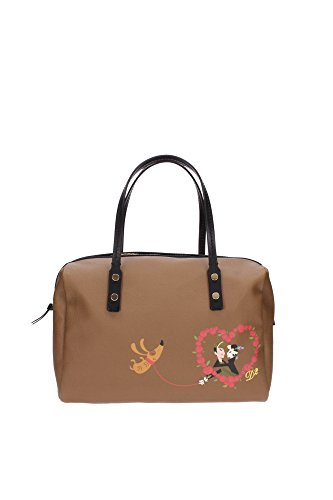 Bowling Bags Dsquared2 Women Fabric Brown and Black W13HD2032V3585080 Brown 17x21x31 cm