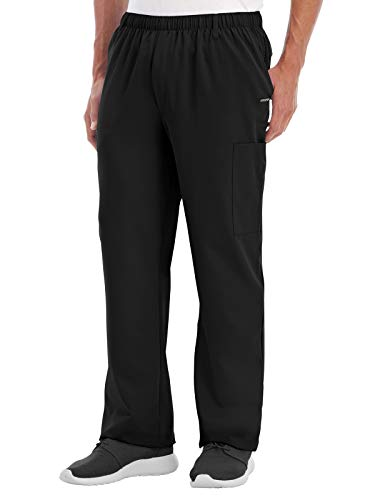 Jockey 2305 Men's Multi-Pocket Cargo Scrub Pant Black L (Bag Jockey)