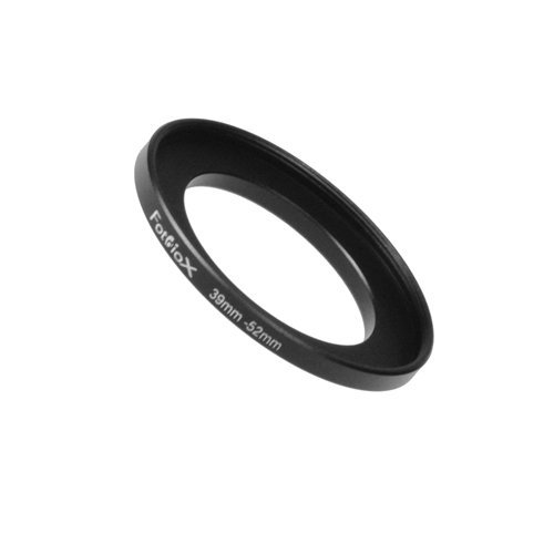 39mm Adapter (Fotodiox Metal Step Up Ring Filter Adapter, Anodized Black Aluminum 39mm-52mm 39-52 mm)
