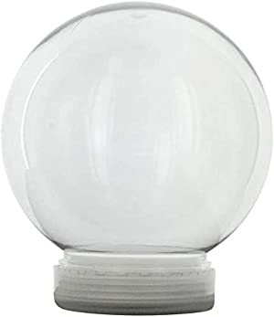 Creative Hobbies 4 Inch DIY Clear Plastic Water Globe Snow Globe with Screw Off Cap -Great for DIY Snow Globes (6)