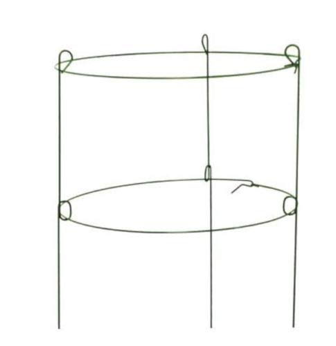 (Panacea 89322 Double Peony Ring Steel Plant Support, 3-Legs, Green, 18