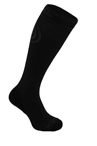 Bridgedale Compression Travel Socks, Large, Black ()
