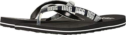 UGG Women's SIMI Graphic Flip-Flop Black 10 M US ()