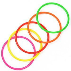 Game Medium (Cosmos 10 pcs Medium Size Plastic Toss Rings for Speed and Agility Practice Games)