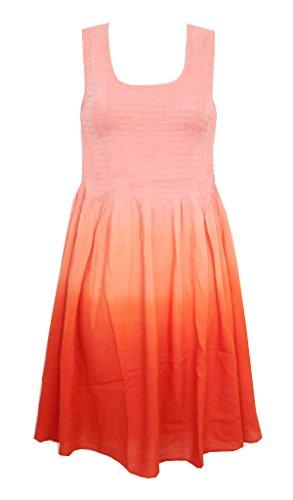 SOL Ombre Smock Top Dress Coral SM