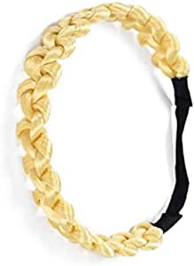 Chunky Synthetic Hair Braided Headband Classic Wide Braids Elastic Stretch Hairpiece Women Beauty accessory