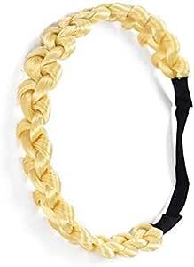 Hair Accessories Simulation Synthetic Hair Plaited Headband Elastic Hair Band Braided Headwear Hair scrunchy Headband