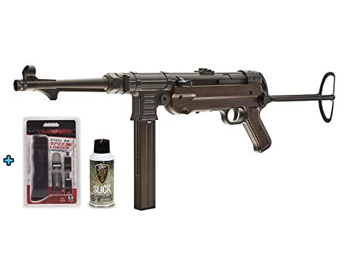 Legend Umarex MP40 GEN-3 CO2 Full Metal Semi/Full Auto SMG .177 Airgun W/Universal Speed Loader & Silicone Oil (Umarex Legends Mp40 Co2 Bb Submachine Gun)