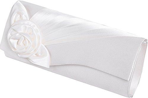 LEXUS - Cartera de mano de Satén para mujer Blanco - marfil