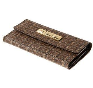 [Q pot Chocolate flap Wallet New] (Costume Ng Japan)