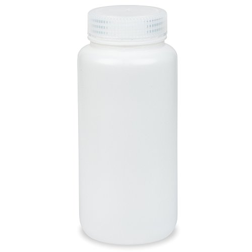 500ml Wide-Mouth Round Media Storage Bottle, HDPE Material, Screw Cap in PP Material, Leakproof, Karter Scientific 238Z2 (Pack of 6)