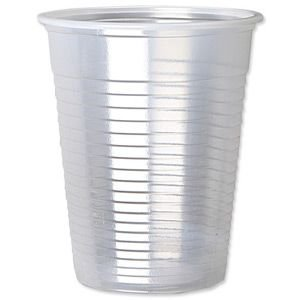 500 x Clear 7 Ounce Strong Drinking Tumbler Disposable Cups For Water Coolers Wedding Parties Events Birthdays and all Occasions by Thali Outlet - Outlet Leeds Shopping