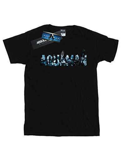 shirt T Text Noir Aquaman Dc Comics Logo Homme qvBw1W7R6x