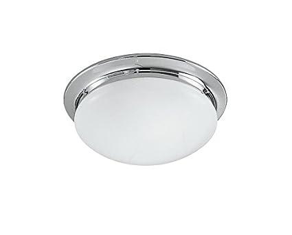 Rossini illuminazione cr plafoniera vetro bianco latte