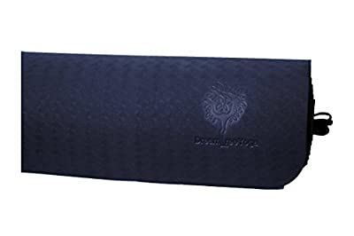 Yoga Mat-Popular Black Thick Balanced Luxury Comfort Perfect for Yoga-For Women and Men-Strong Quiet Non-Slip Eco-Friendly Toxin Free No-Smell