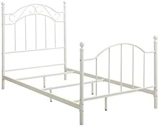 Dorel Living Winnie Twin Metal Bed in White