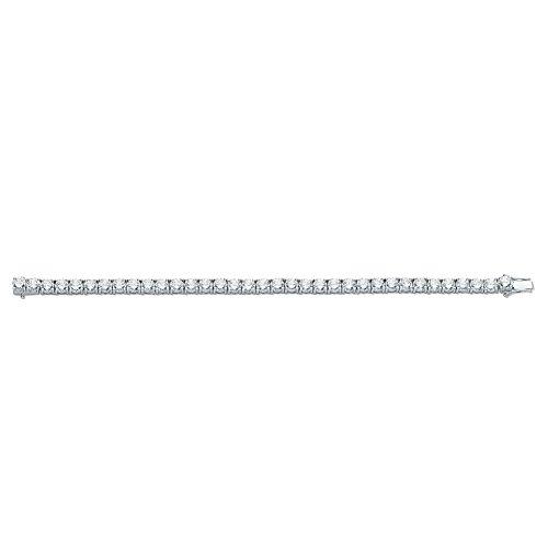 Jareeya-Argent Sterling CZ Tennis Bracelet pour femme 17,8cm 22,5G