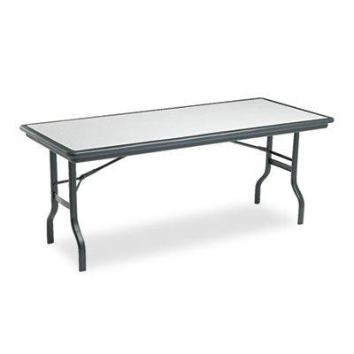 ICEBERG ENTERPRISES IndestrucTable Resin Rectangular Folding Table, 72w x 30d x 29h, Granite, Sold as 1 (Iceberg Enterprises Folding Chair)