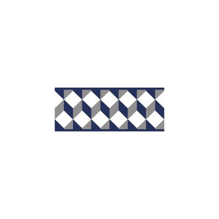 York Wallcoverings Portfolio II Escher Border Removable Wallpaper, Navy Blue/Gray ()