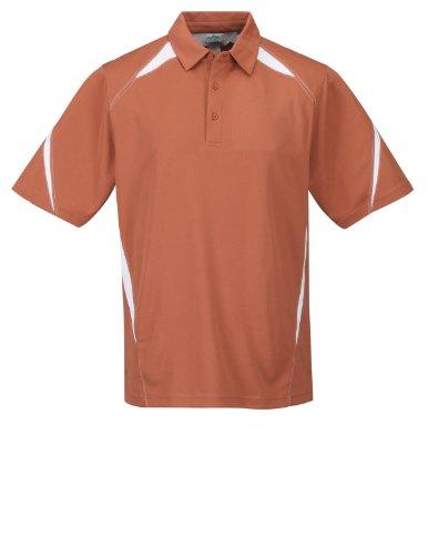 Orange Birdseye Performance Polo - 5