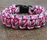 Pink Camo Paracord Survival Bracelet By Bostonred2010 (8
