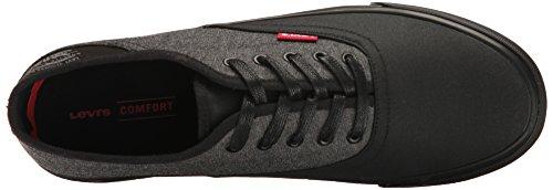 Levis Mens Monterey Chambray Kärn Mode Sneaker Svart Mono Krom