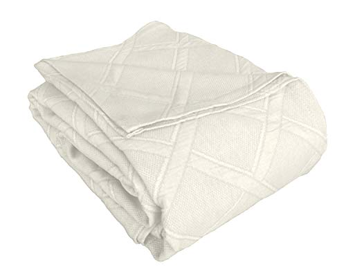 Europa Fine Linens Evora Matelasse Bedding, Coverlet King Size 96-Inch by 102-Inch, Ivory