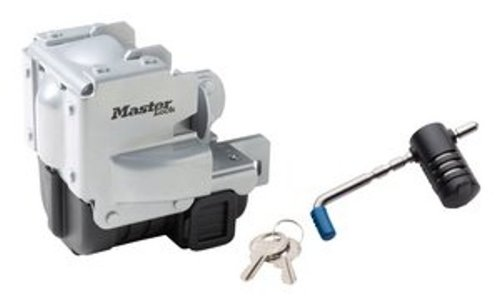 Master Lock Trailer Lock, Stainless Steel Trailer Coupler Lock, Fits 2-5/16 in. Couplers, 3784DAT