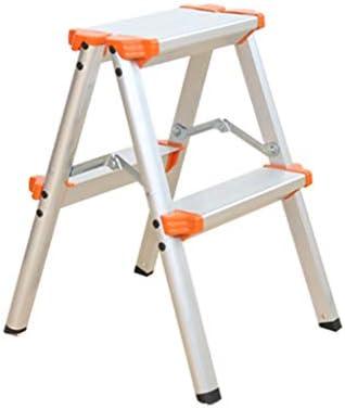 Taburetes escalera Escalera escalera de mano plegable escala telescópica escalera más gruesa escalera de ingeniería de usos múltiples tres o cuatro pasos (Color : Silver , Size : 38*61*73cm) : Amazon.es: Hogar
