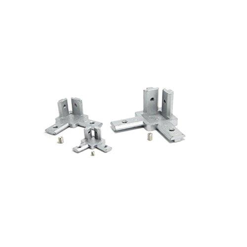1pcs L type 3-dimensional bracket 2020 Concealed 3-way corner connector EU standard Aluminum Profile Accessories