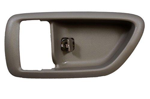 Gray Interior Door Handle Driver - PT Auto Warehouse TO-2901G-2LH - Inside Interior Inner Door Handle Trim/Bezel, Gray (Charcoal) - Driver Side