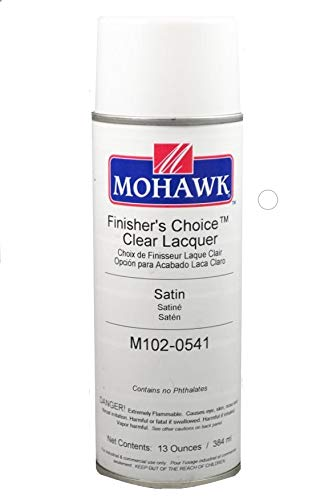 (Mohawk Finishing Products M102-0541 Mohawk Finisher's Choice Clear Satin Lacquer, 13 Oz,)