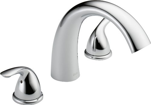 Delta T2705 Roman Tub Trim, Chrome (Valve sold separately) ()