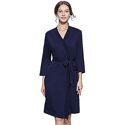 Women's Bathrobe Lightweight Robe Soft Cotton Bath Robe Sleepwear Loungewear