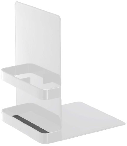 Storage Bookends - Tower - A Pair of White Metal Bookends with a Storage Section, 7