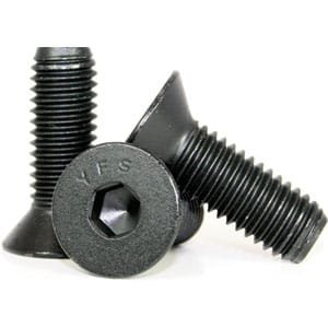 Socket Flat Countersunk Head Cap Screw, 5/16-18 x 2'', Alloy Steel, Black Oxide, Hex Socket (Quantity: 100) Coarse Thread, 5/16 inch Allen Bolt, Length: 2 inch, Partial Thread by Newport Fasteners