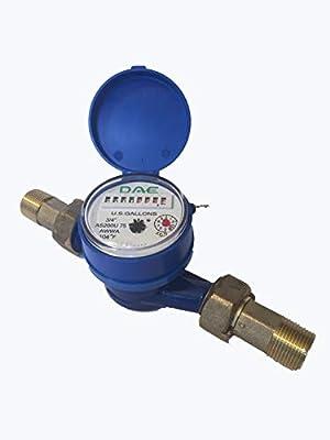 """DAE AS200U-75 Water Meter, 3/4"""" NPT Couplings, Measuring in Gallons"""