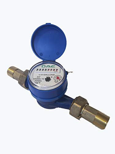 DAE AS200U-75 3/4 inch Potable Water Meter, Measuring in Gal