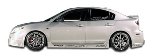 Duraflex Replacement for 2004-2009 Mazda 3 B-2 Side Skirts Rocker Panels - 2 Piece