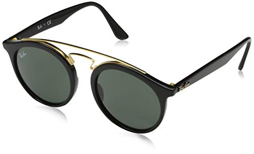 Ray-Ban New Gatsby I Round Sunglasses, BLACK, 49 ()