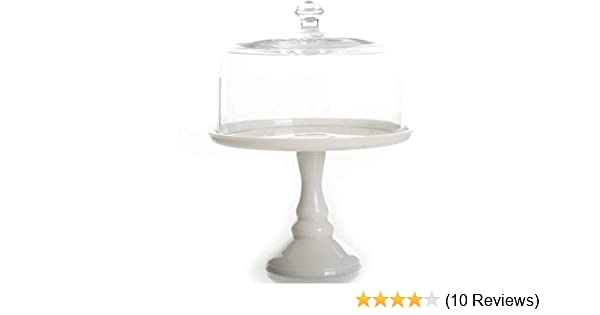 1 116009.02R The Pioneer Woman Timeless Beauty 10 Milk White Glass Cake Stand
