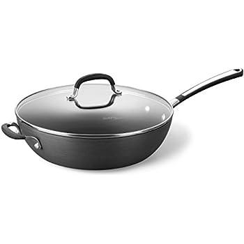 """Simply Calphalon Nonstick 12"""" Jumbo Deep Fry Pan"""